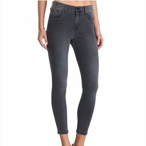 J Brand The Skinny Crop Grey High Rise Jeans
